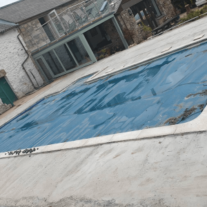 Swimming pool ready for a resin surround