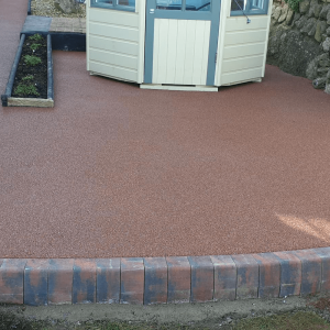 Resin patio area