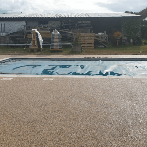 Pool with a resin surround