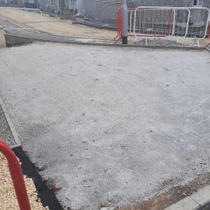 Before brick paving