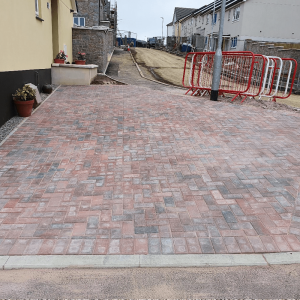After brick paving